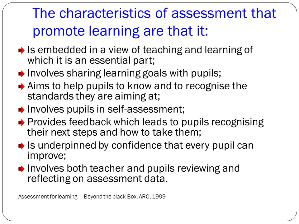 The characteristics of assessment that promote learning are that it: