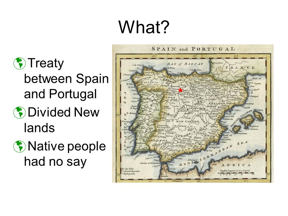 What Treaty between Spain and Portugal Divided New lands