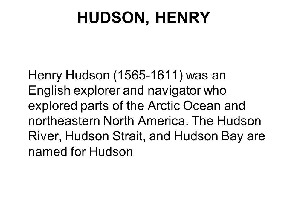 HUDSON, HENRY