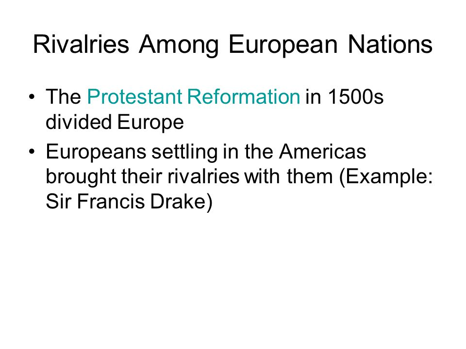 Rivalries Among European Nations
