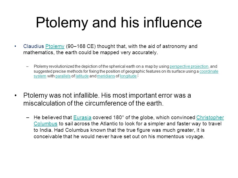 Ptolemy and his influence
