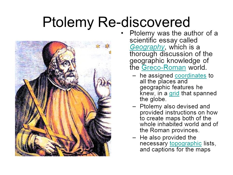 Ptolemy Re-discovered