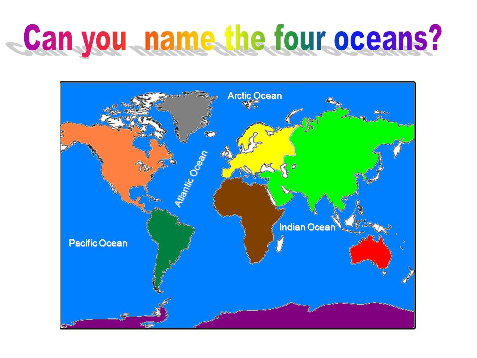 Can you name the four oceans
