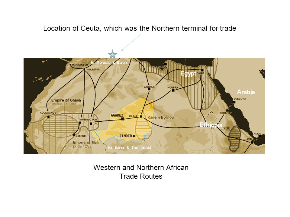 Western and Northern African Trade Routes