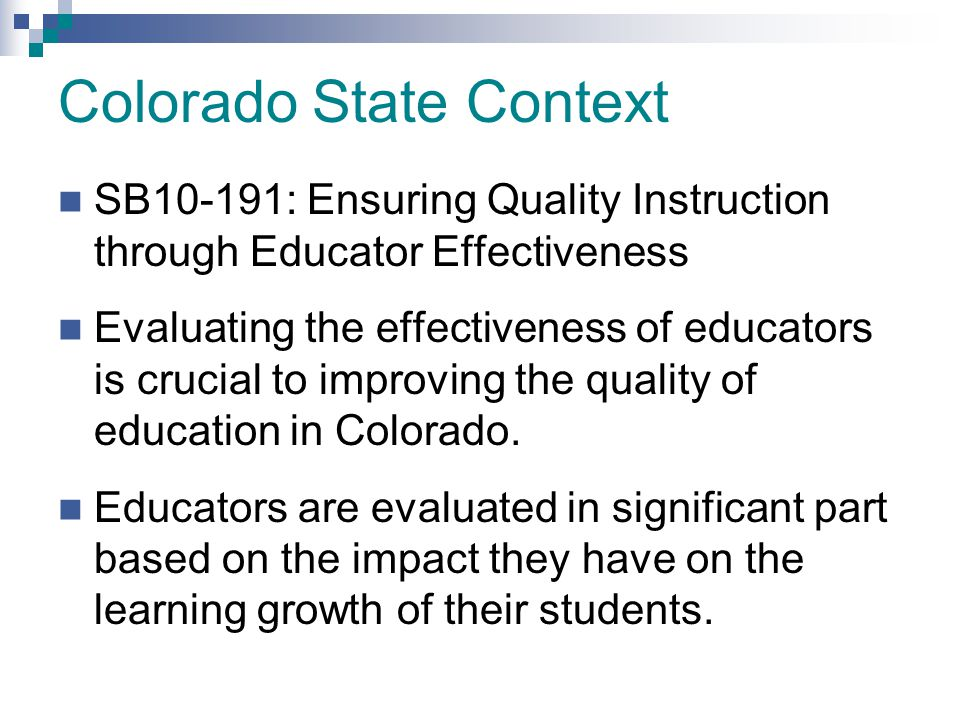 Colorado State Context
