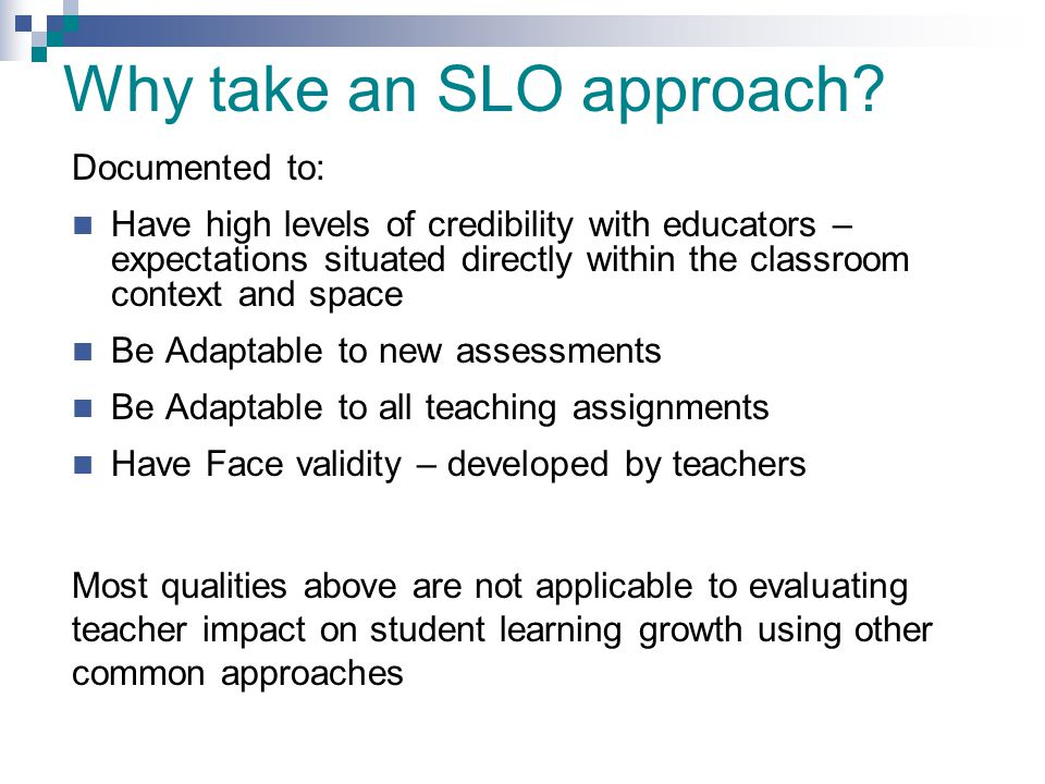 Student learning objectives pilot test ppt download for Ohio slo template