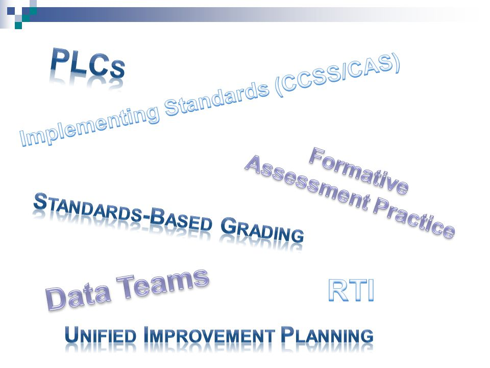 PLCs Data Teams RTI Implementing Standards (CCSS/CAS)