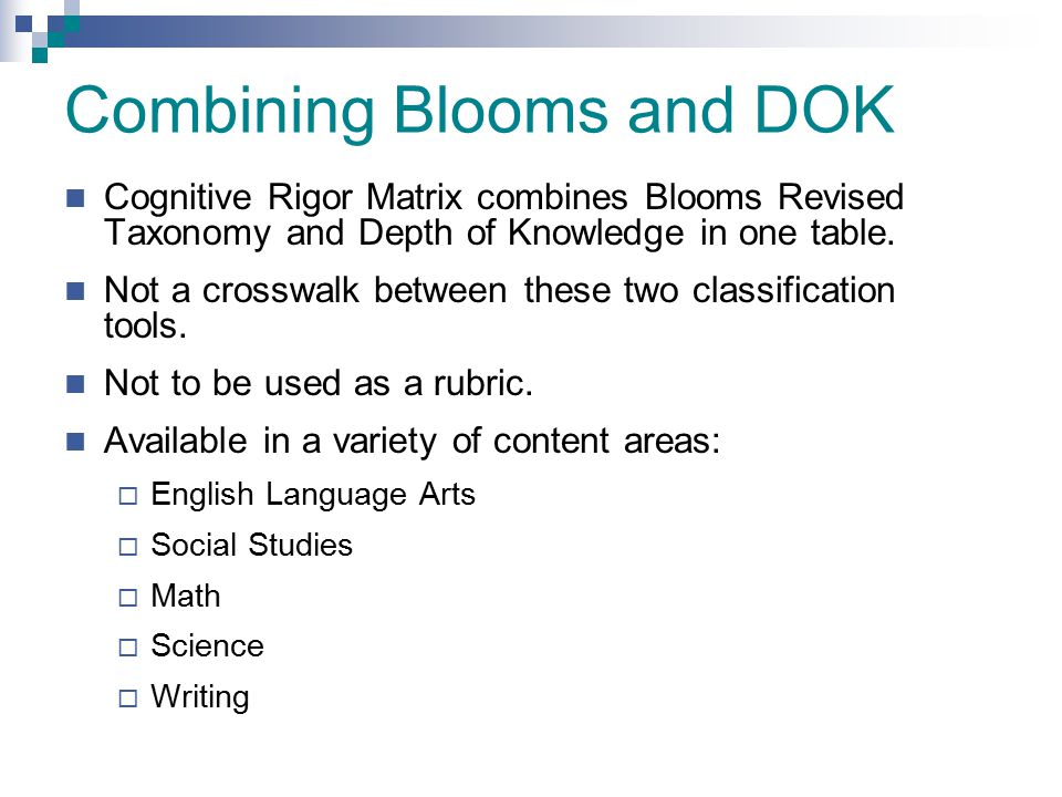 Combining Blooms and DOK