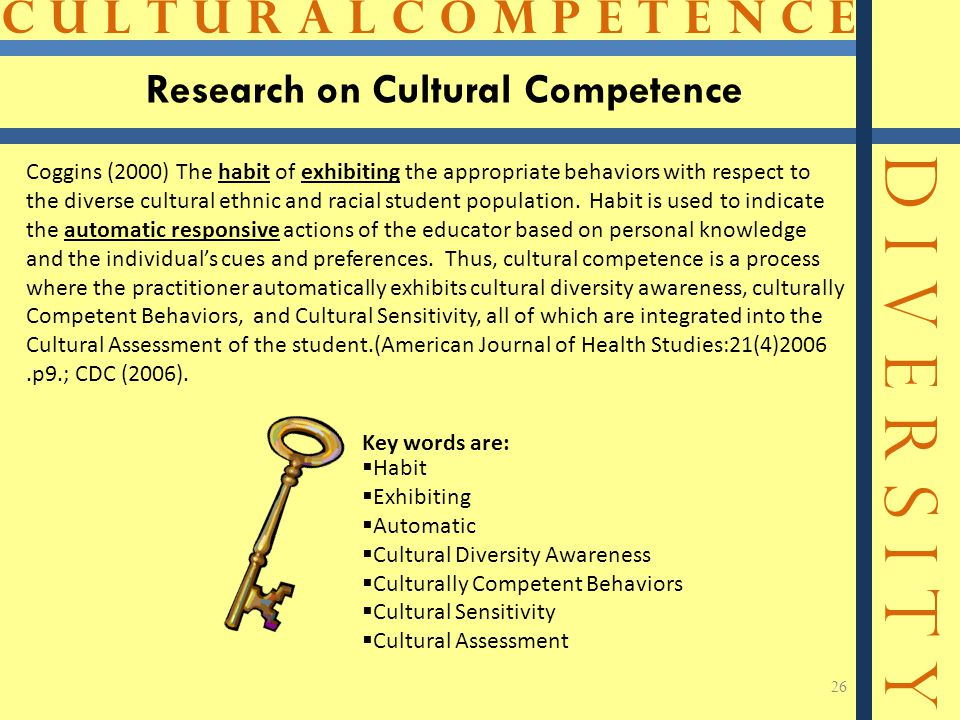 Research on Cultural Competence
