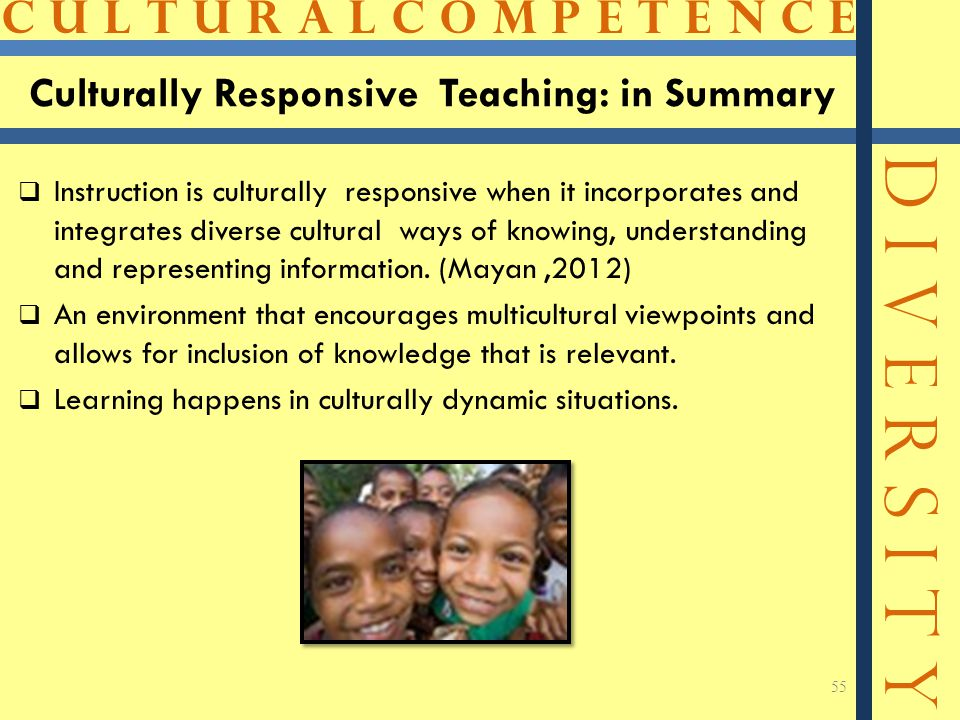 Culturally Responsive Teaching: in Summary
