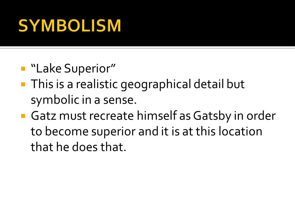 SYMBOLISM Lake Superior