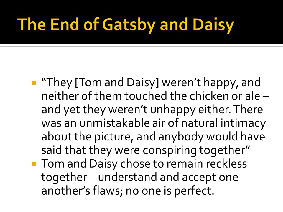 The End of Gatsby and Daisy