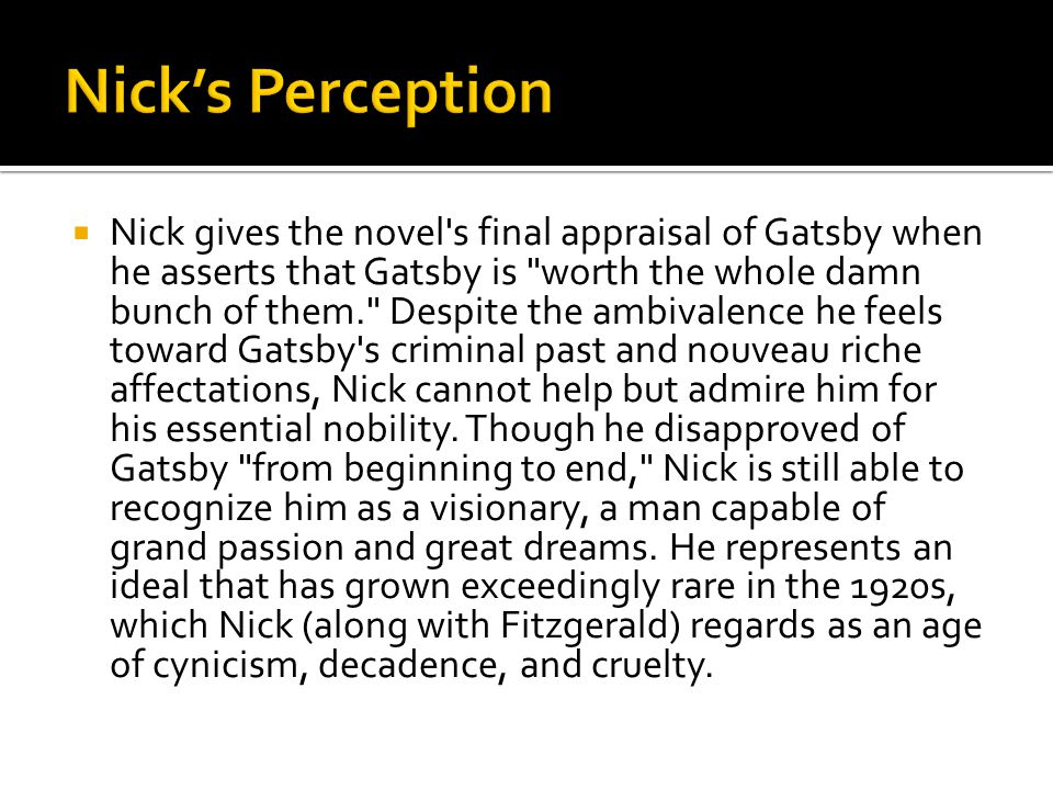 Nick's Perception