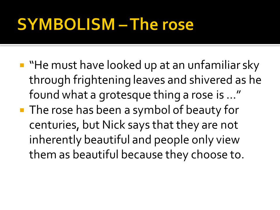 SYMBOLISM – The rose