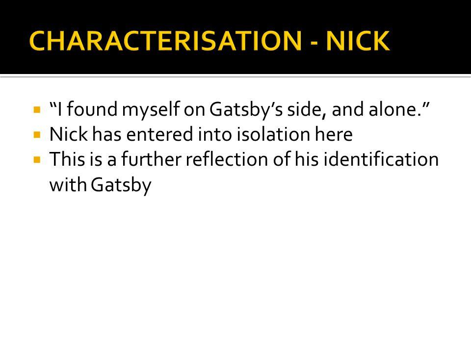CHARACTERISATION - NICK