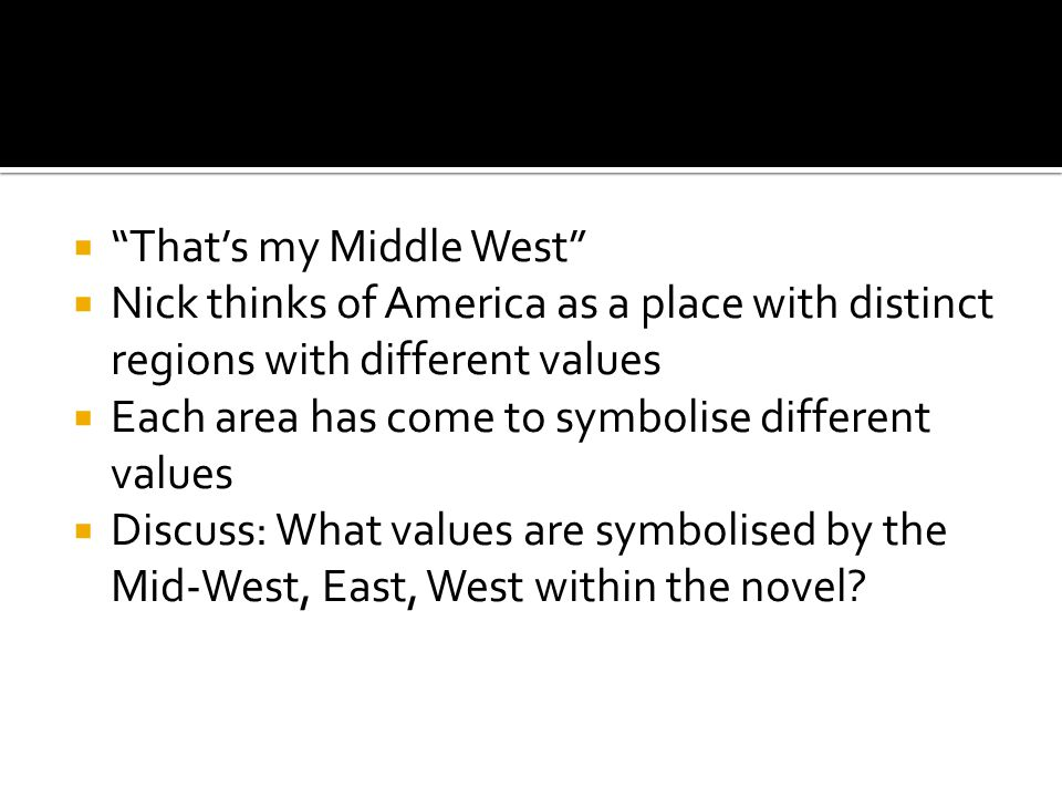 That's my Middle West