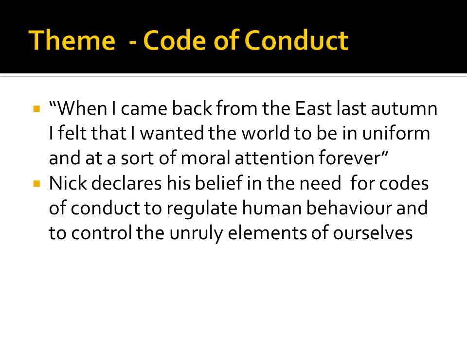 Theme - Code of Conduct