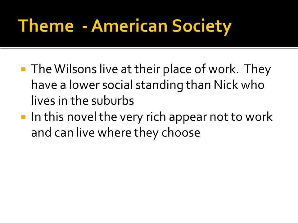 Theme - American Society