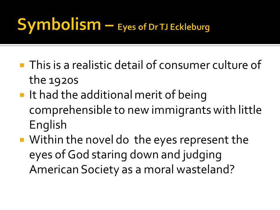 Symbolism – Eyes of Dr TJ Eckleburg