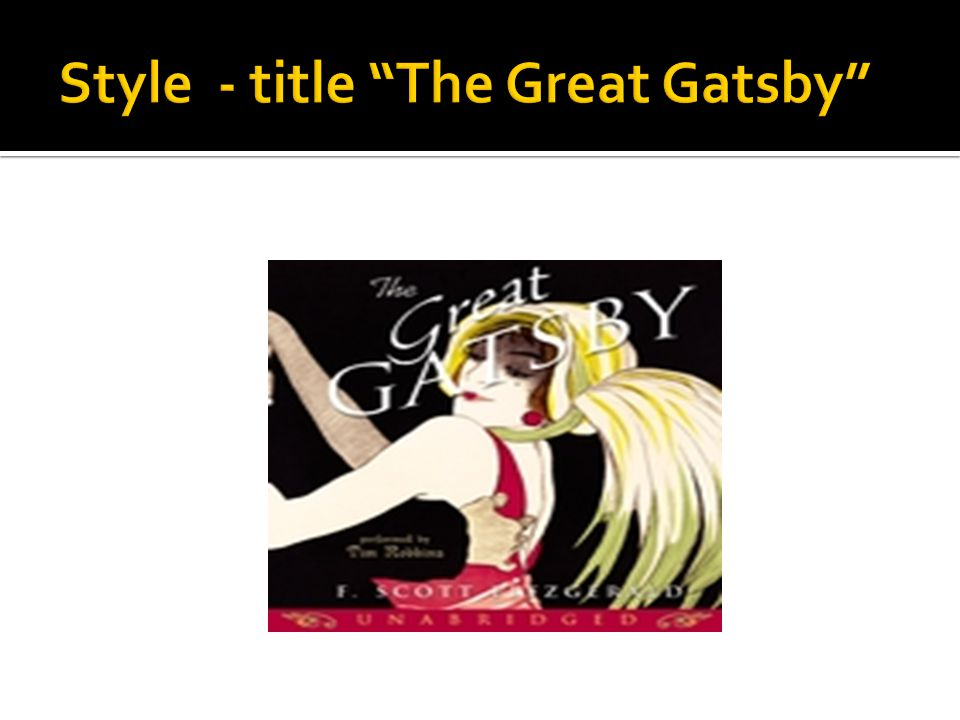 Style - title The Great Gatsby