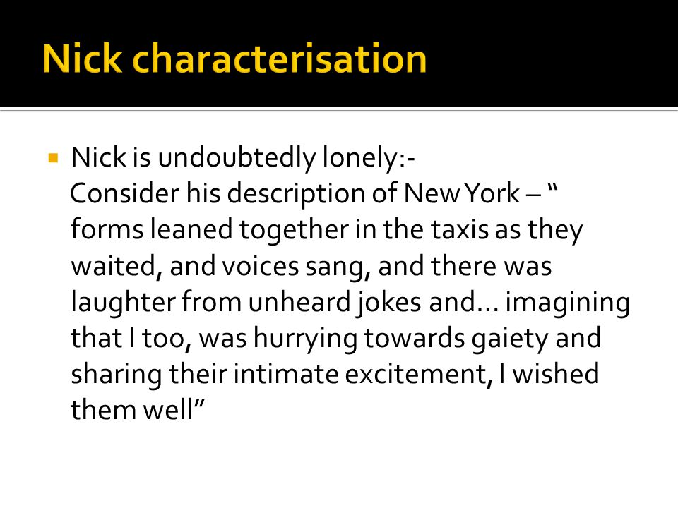 Nick characterisation