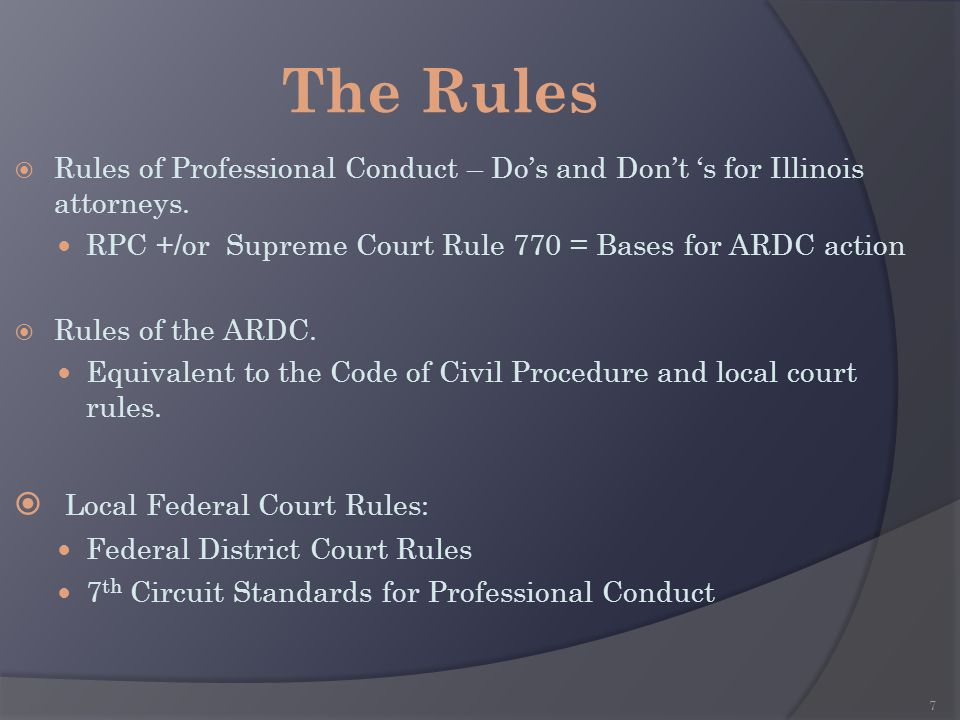 The Rules Local Federal Court Rules: