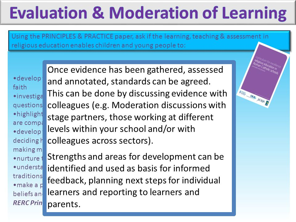 Evaluation & Moderation of Learning