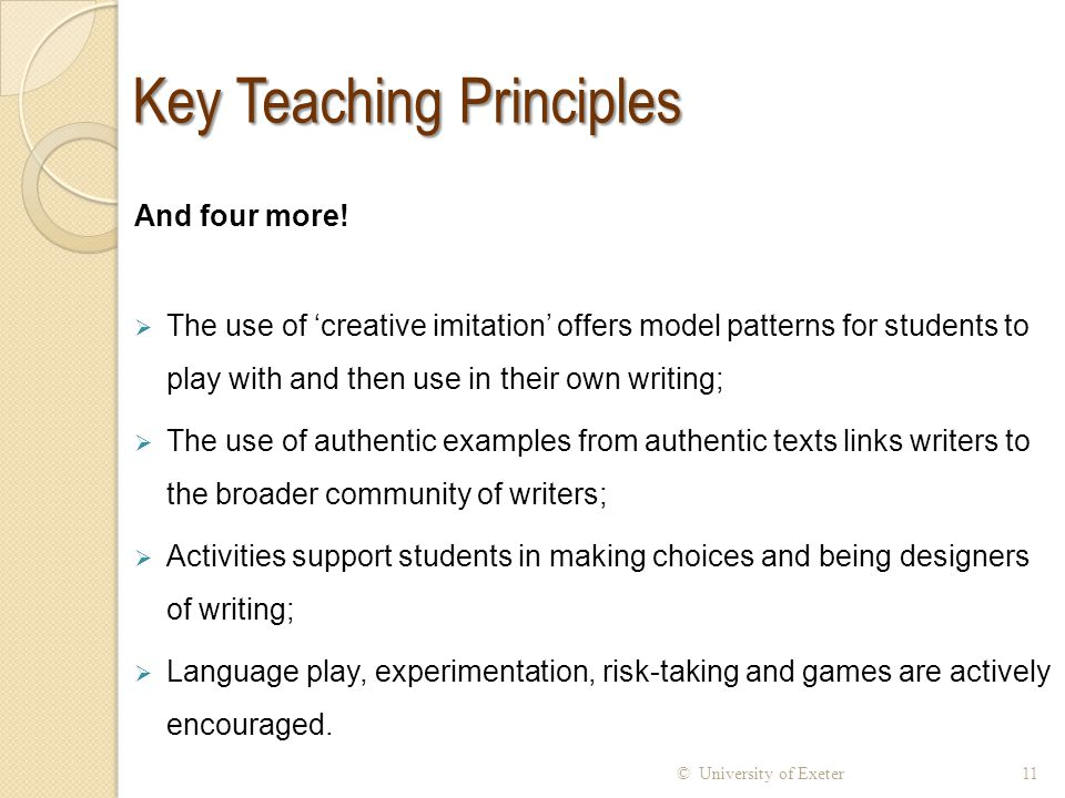 Key Teaching Principles