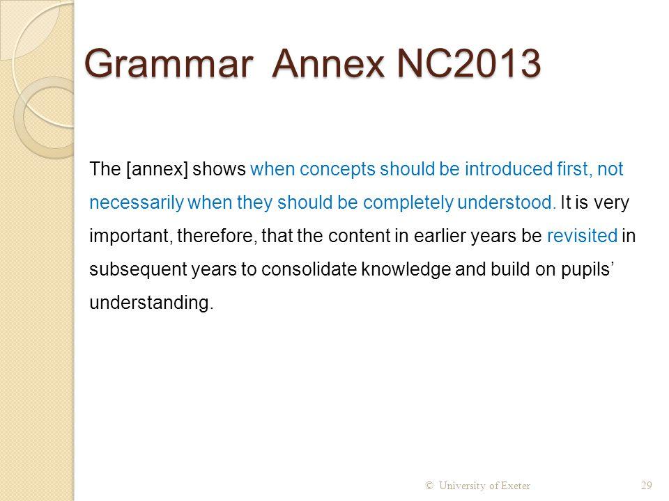 Grammar Annex NC2013