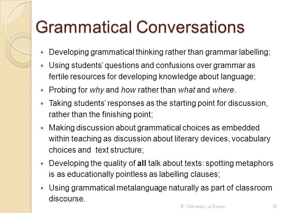 Grammatical Conversations