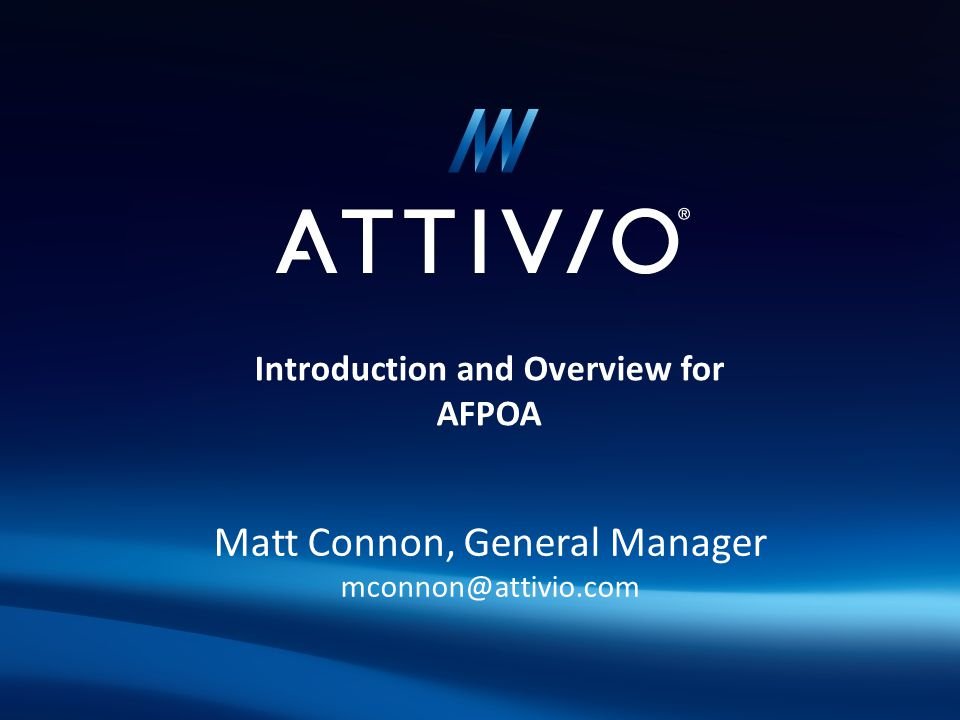 Introduction and Overview for AFPOA