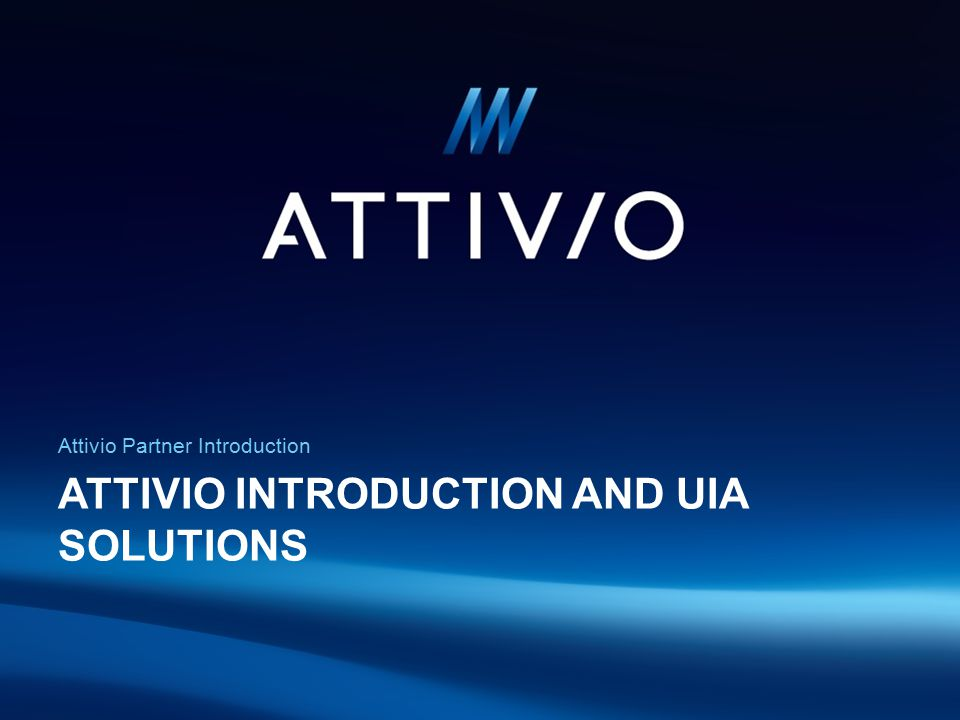 Attivio introduction and UIA solutions