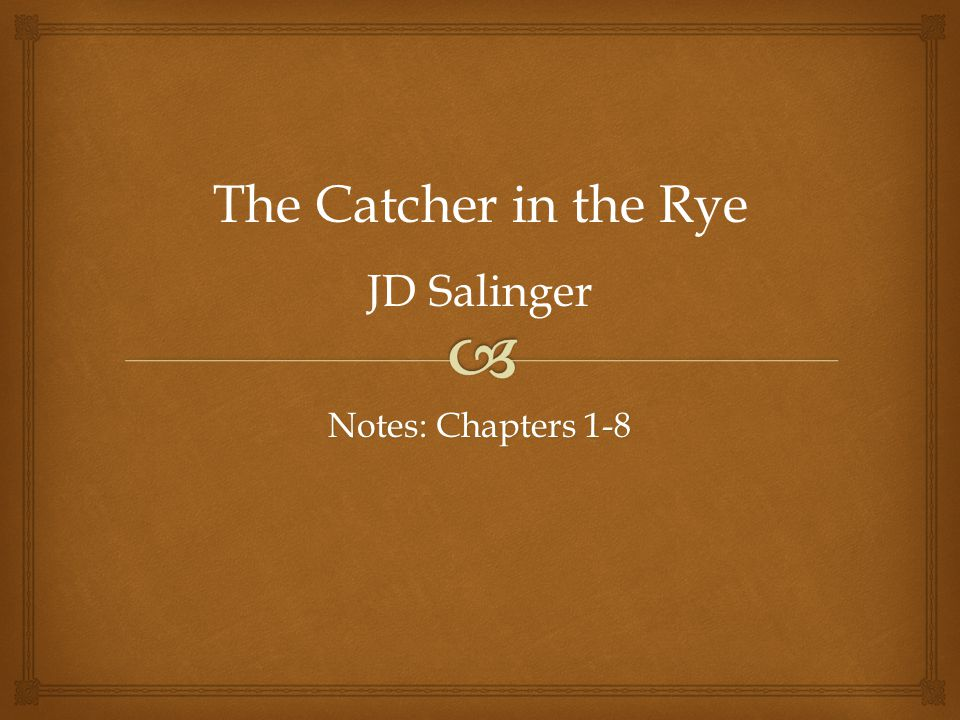 studying extract from chapter 24 the catcher in the rye essay