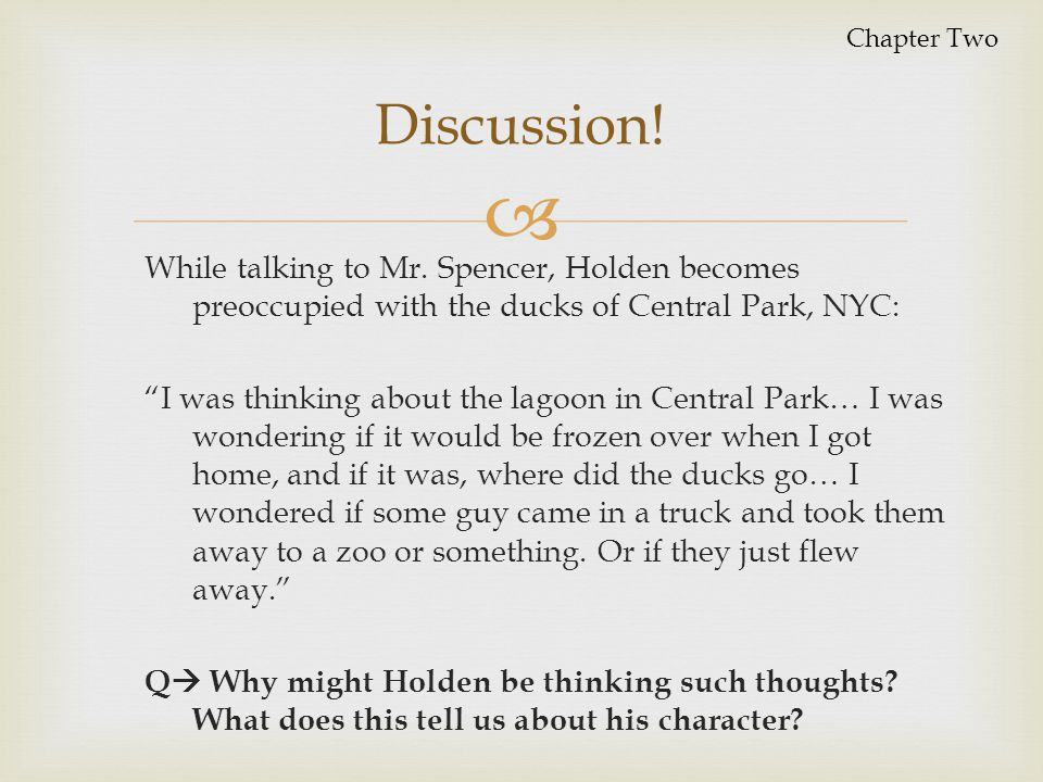 Chapter Two Discussion!