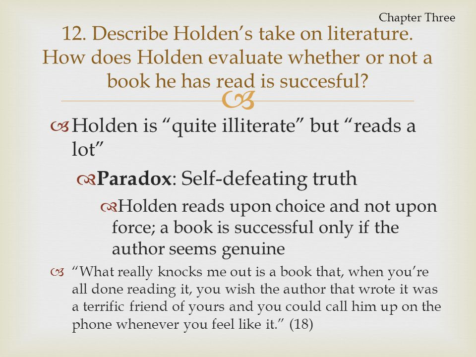 Paradox: Self-defeating truth