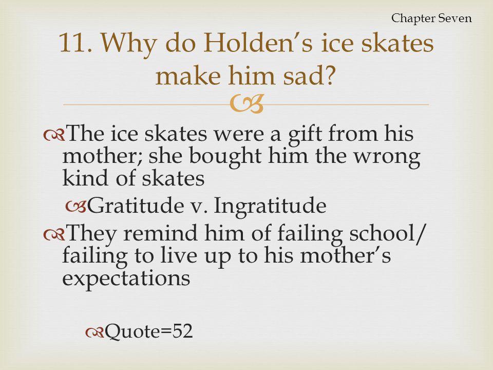 11. Why do Holden's ice skates make him sad