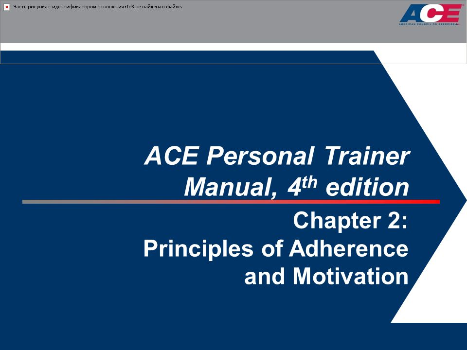 ACE Personal Trainer Manual, 4th edition Chapter 2: