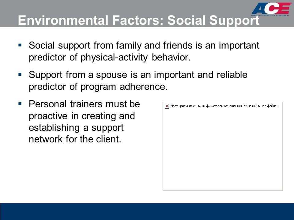 Environmental Factors: Social Support