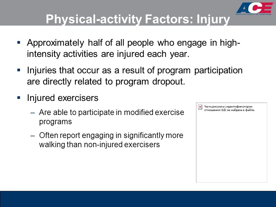 Physical-activity Factors: Injury