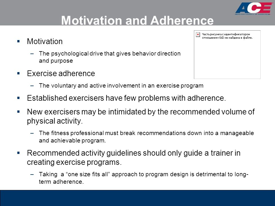 Motivation and Adherence