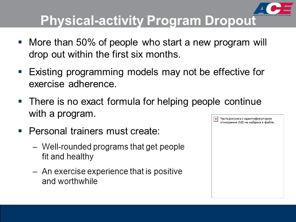 Physical-activity Program Dropout