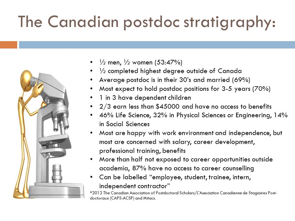 The Canadian postdoc stratigraphy: