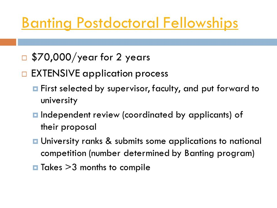 Banting Postdoctoral Fellowships