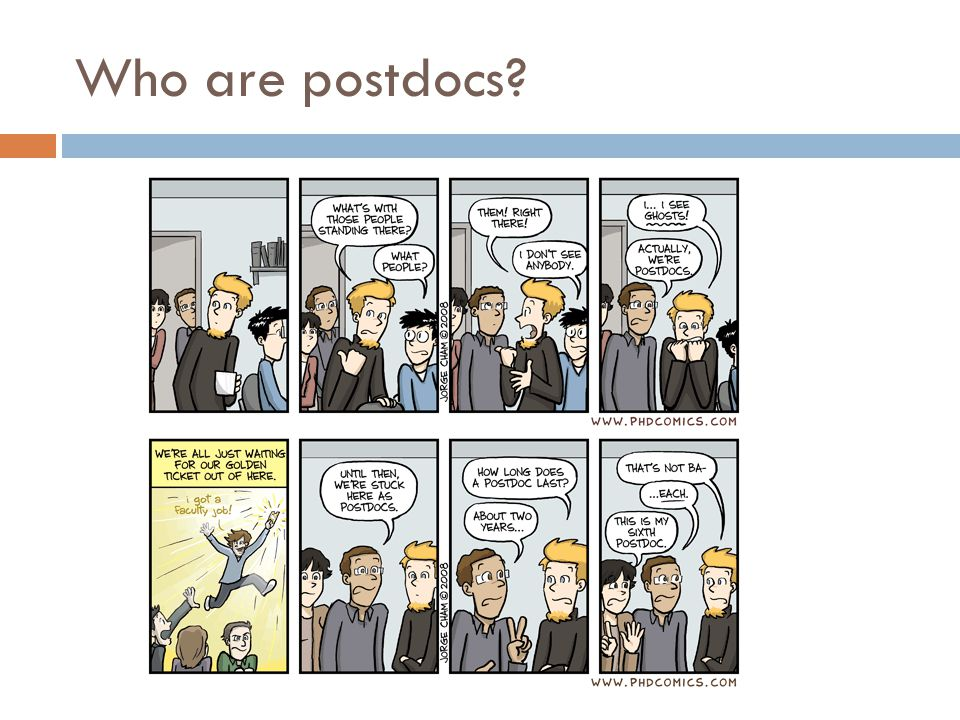 Who are postdocs
