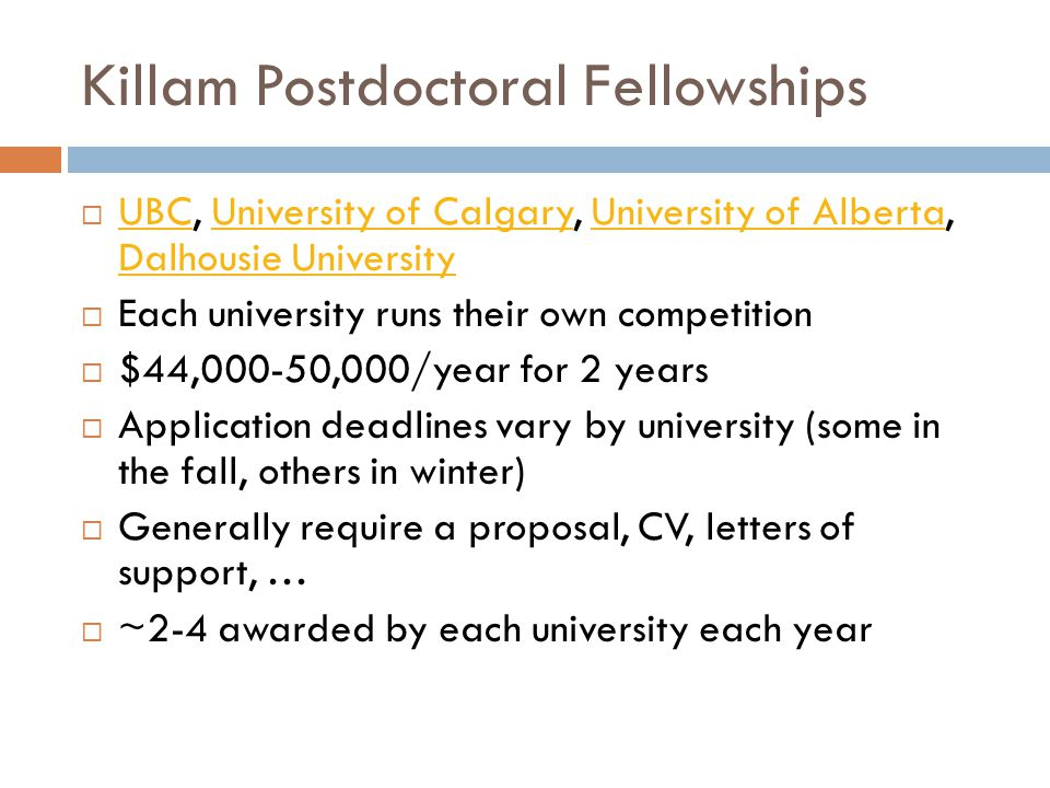 Killam Postdoctoral Fellowships