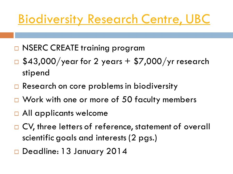 Biodiversity Research Centre, UBC