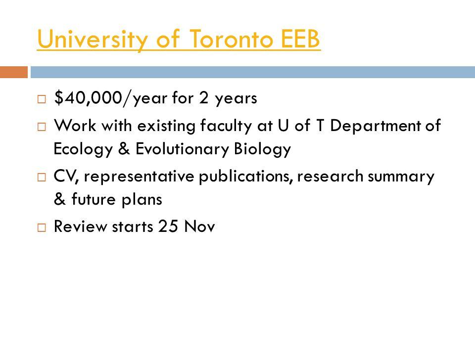 University of Toronto EEB