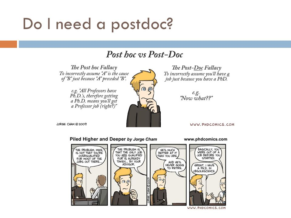 Do I need a postdoc