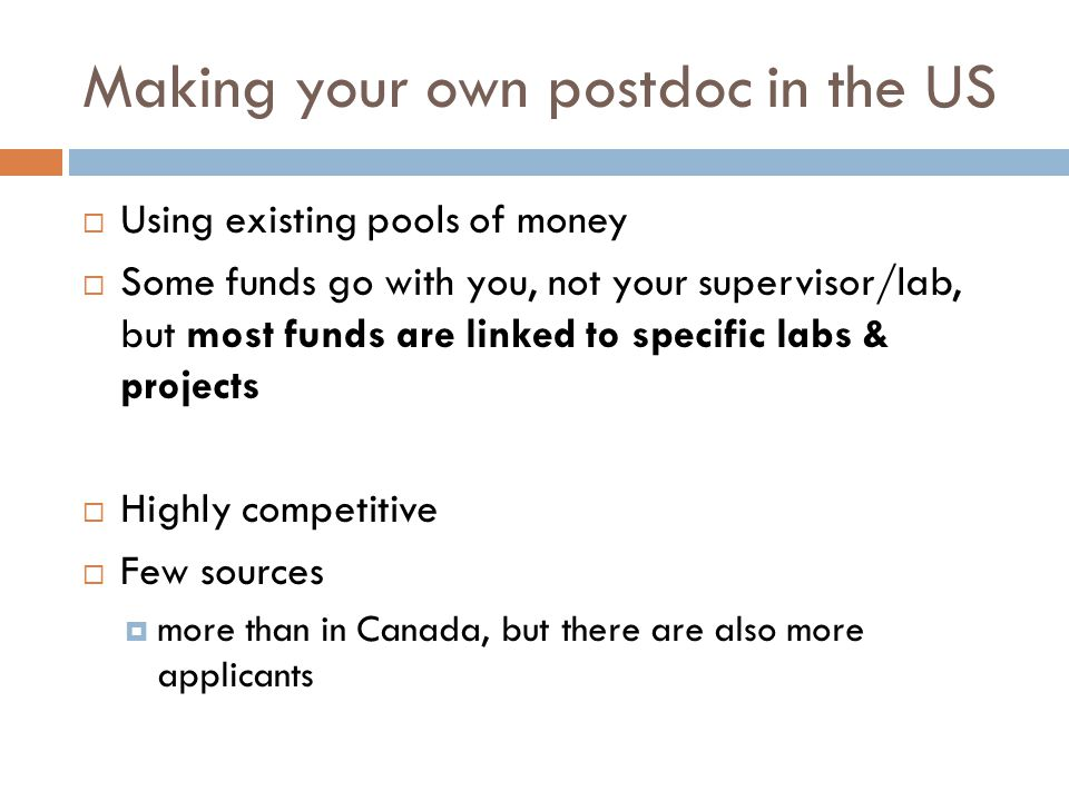 Making your own postdoc in the US