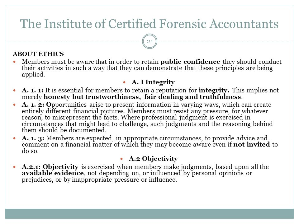 The Institute of Certified Forensic Accountants